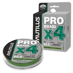 Шнур Nautilus Pro Braid X4 Army Green d-0.10 4.1кг 9lb 150м - фото 5041