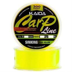 Леска KAIDA Carp Line Sinking Fluo Yellow 300м 0.405мм 12.42кг - фото 5498