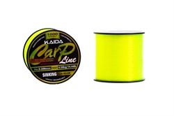Леска KAIDA Carp Line Sinking Fluo Yellow 1000м 0.331мм 8.63кг - фото 5501