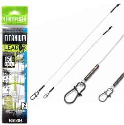 Поводок HITFISH Titanium Leader (белый) 200мм d 0.35 12,6кг уп.(2 шт) - фото 5635