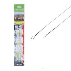 Поводок титановая струна HITFISH Titanium Twist String Leader 250мм d 0.35 9.9кг уп.(2 шт) - фото 5646
