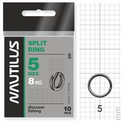 Кольцо Nautilus заводное Split ring 5мм тест 8кг - фото 5719