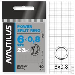 Кольцо Nautilus заводное усиленное Power split ring 6*0,8мм тест 23кг - фото 5723