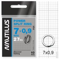 Кольцо Nautilus заводное усиленное Power split ring 7*0,9мм тест 27кг - фото 5724