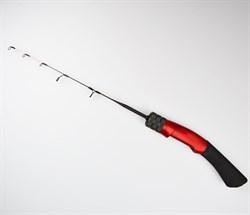 Зимняя удочка Kaida Skyrocket soft 45 см изогнутая красная ручка - фото 6529