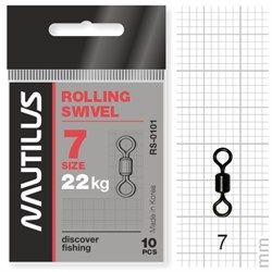 Вертлюг Nautilus Rolling Swivel 0101 size # 7 тест 22кг уп (10 шт) - фото 6725