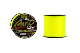 Леска KAIDA Carp Line Sinking Fluo Yellow 1000м 0.331мм 8.63кг