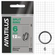 Кольцо Nautilus заводное Split ring 6мм тест 12кг