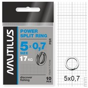 Кольцо Nautilus заводное усиленное Power split ring 5*0,7мм тест 17кг