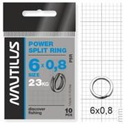 Кольцо Nautilus заводное усиленное Power split ring 6*0,8мм тест 23кг
