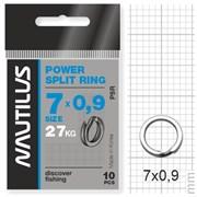 Кольцо Nautilus заводное усиленное Power split ring 7*0,9мм тест 27кг