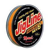 Плетеный шнур Jigline MX8 Super Silk, 0.12 мм/10.0 кг, 100 м, оранжевый