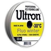 Леска ULTRON Fluo Winter 0,22мм 5.5кг 30м флуоресцентная