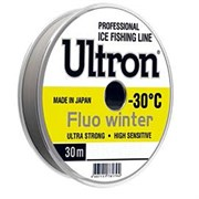 Леска ULTRON Fluo Winter 0,10мм 1.3кг 30м флуоресцентная