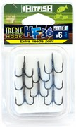 Тройной крючок HITFISH HF-36 Needle point №6 уп (8 шт)