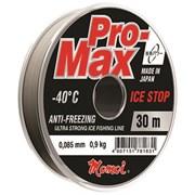 Леска Momoi Pro-Max Ice Stop 0.091мм, 1.0кг, 30м прозрачная Barrier Pack