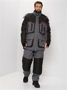 Костюм зимний Huntsman Siberia Lux серый/чёрный  (размер: 52-54, рост: 170-176)